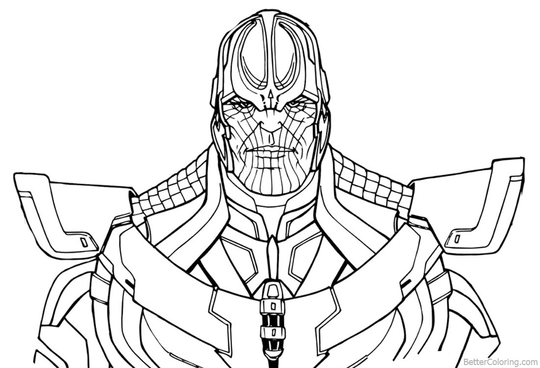 Free Coloring Pages Download : Avengers Infinity War Thanos Drawing And Coloring  Thanos 2204604 Of Thanos