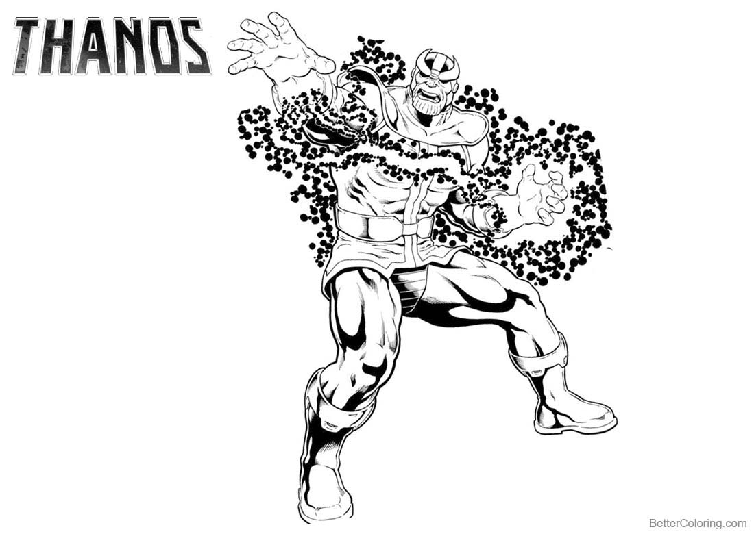 Thanos From Marvel Coloring Pages Free Printable