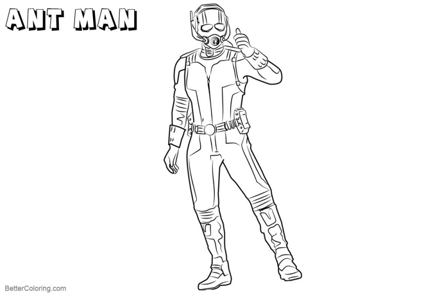 ant man coloring pages from captai america civil war