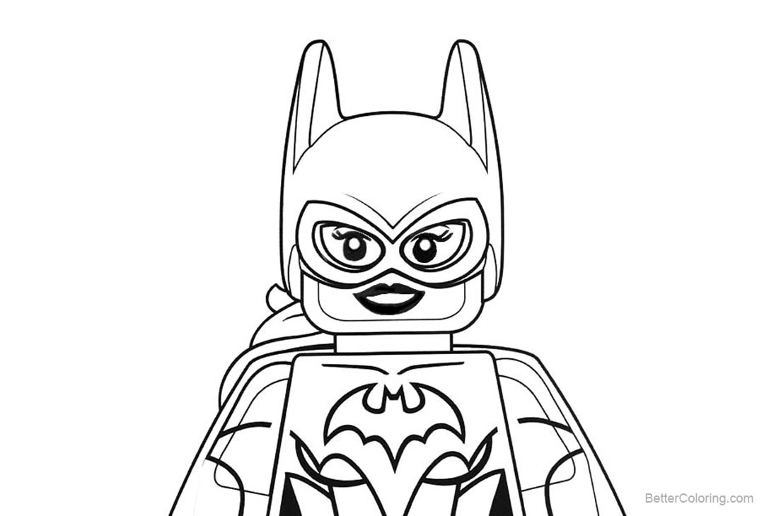 Lego Dc Superhero Girls Coloring Pages