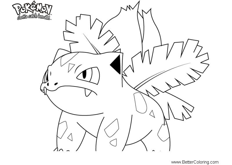 pokemon coloring pages ivysaur  free printable coloring pages