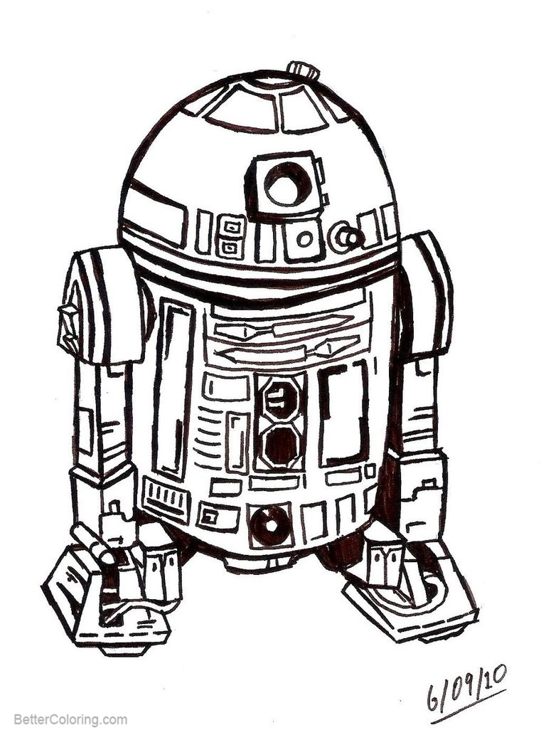 r2d2 star wars coloring pagesintothewild142  free