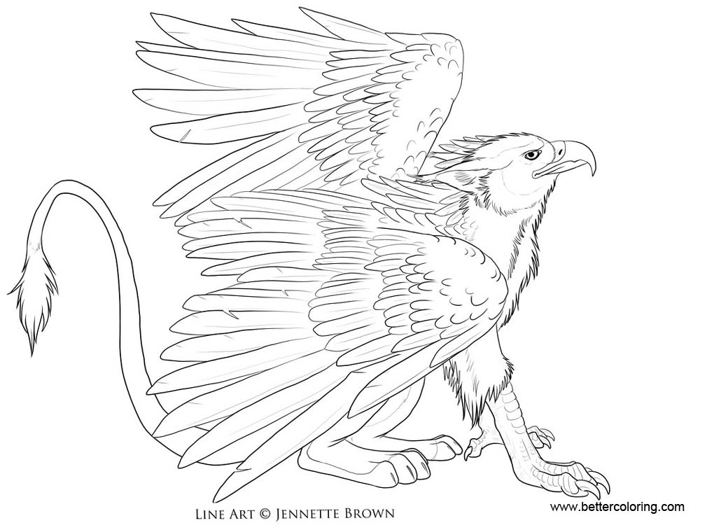 Griffin Coloring Pages By Sugarpoultry Free Printable