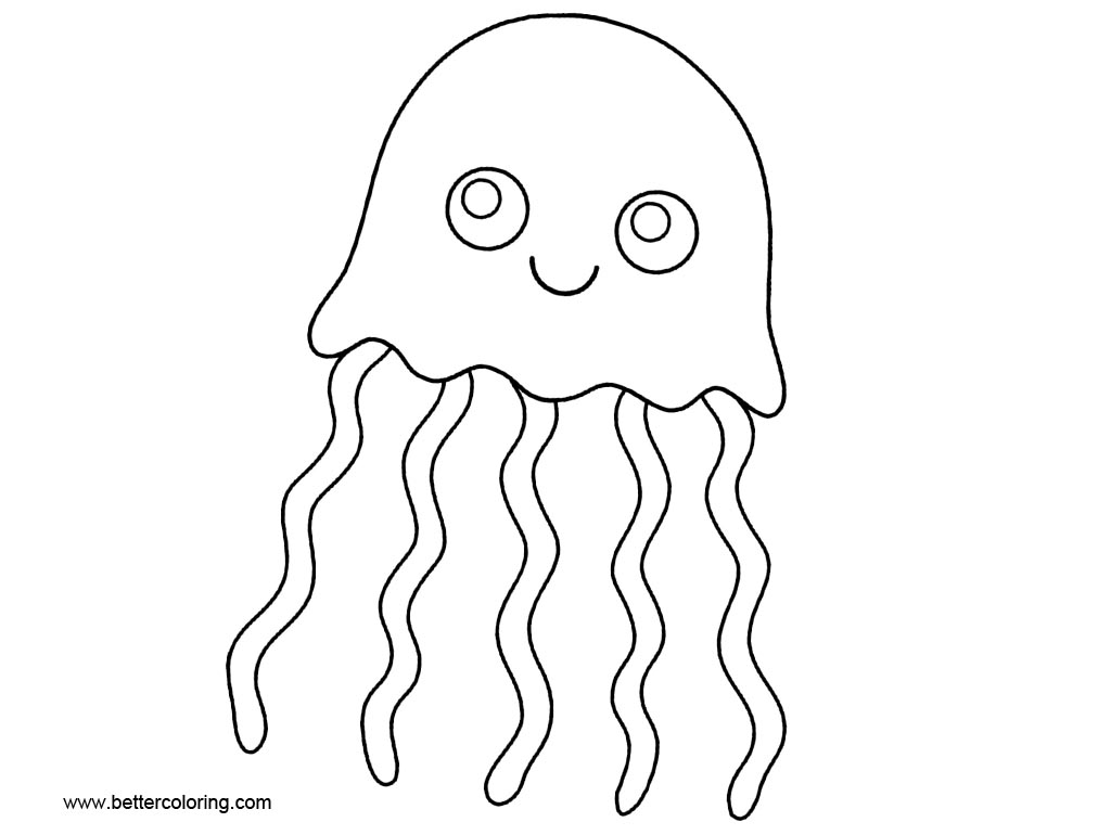 Jellyfish Coloring Pages Cartoon Clip Art