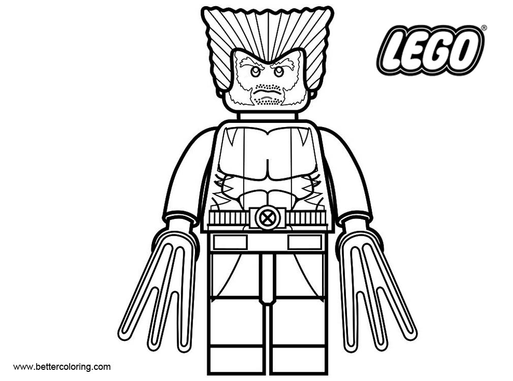 LEGO Superhero Coloring Pages Wolverine Free Printable