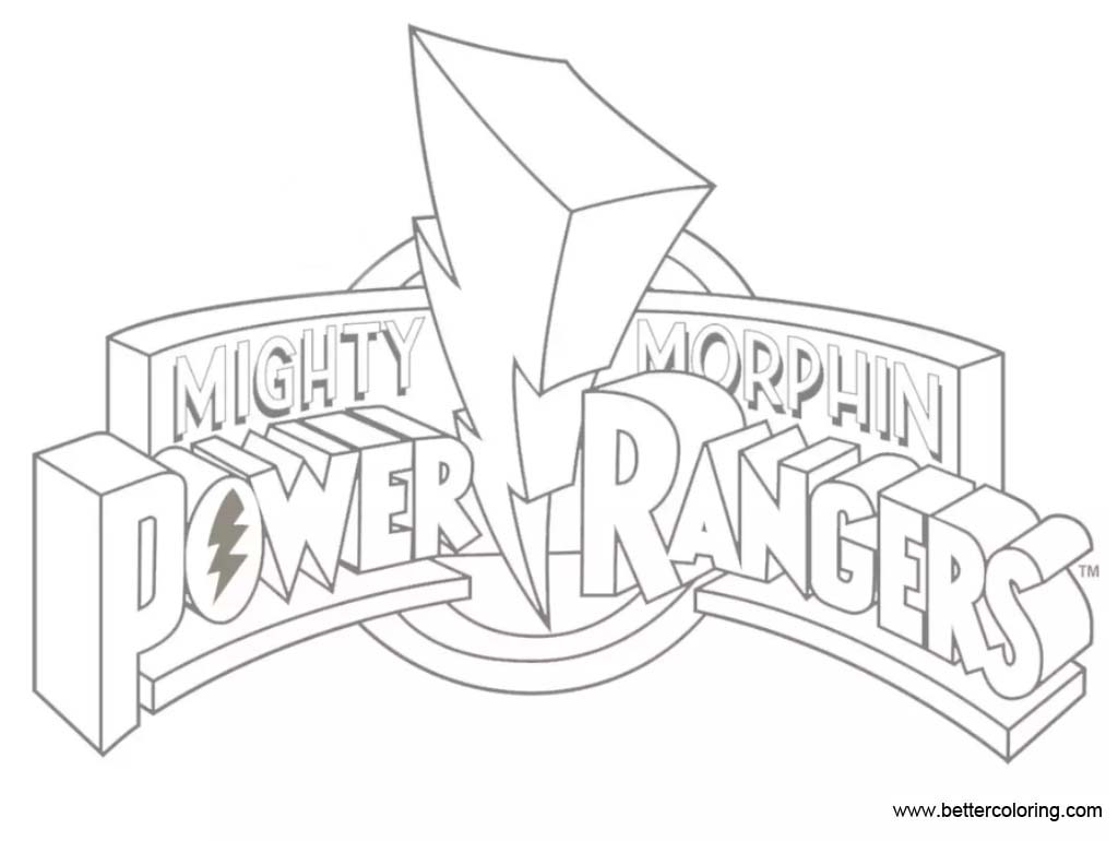 Logo Of Mighty Morphin Power Rangers Coloring Pages