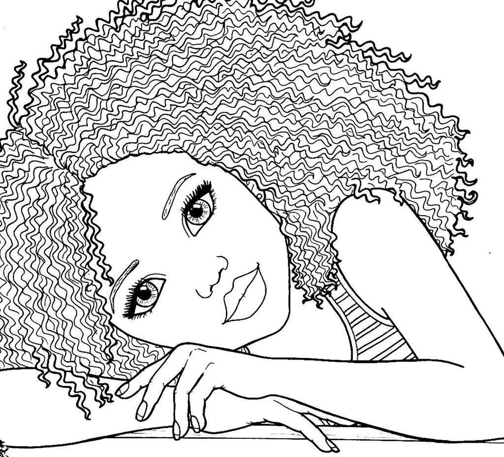American Girl Coloring Pages African High For Preschool