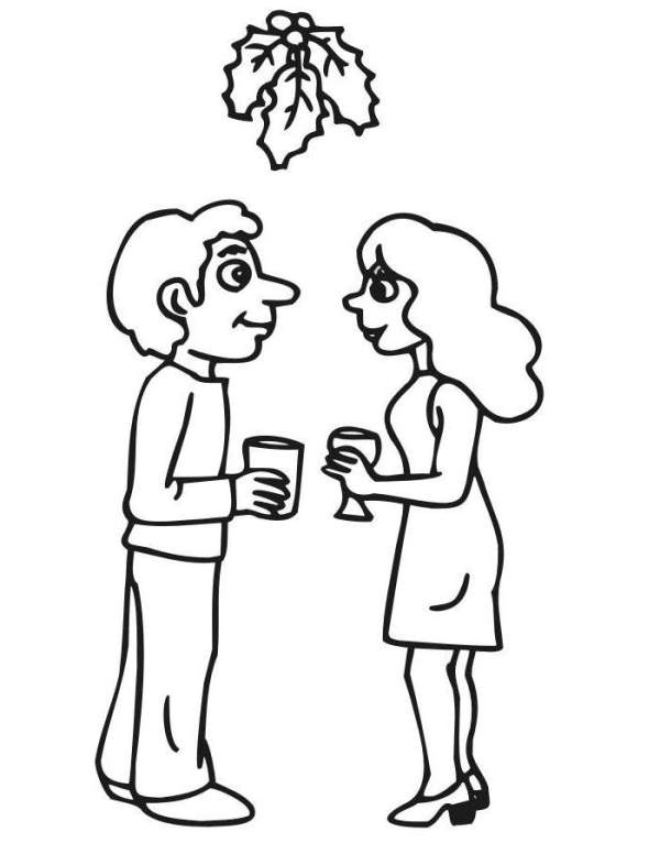 mistletoe coloring pages # 54