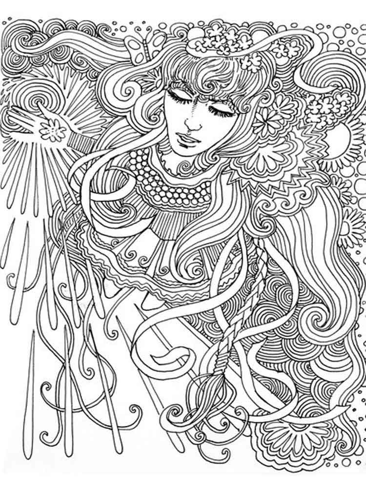 Trippy Coloring Pages Easy Printable Psychedelic 145