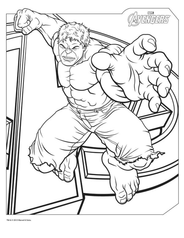 thor coloring page # 66