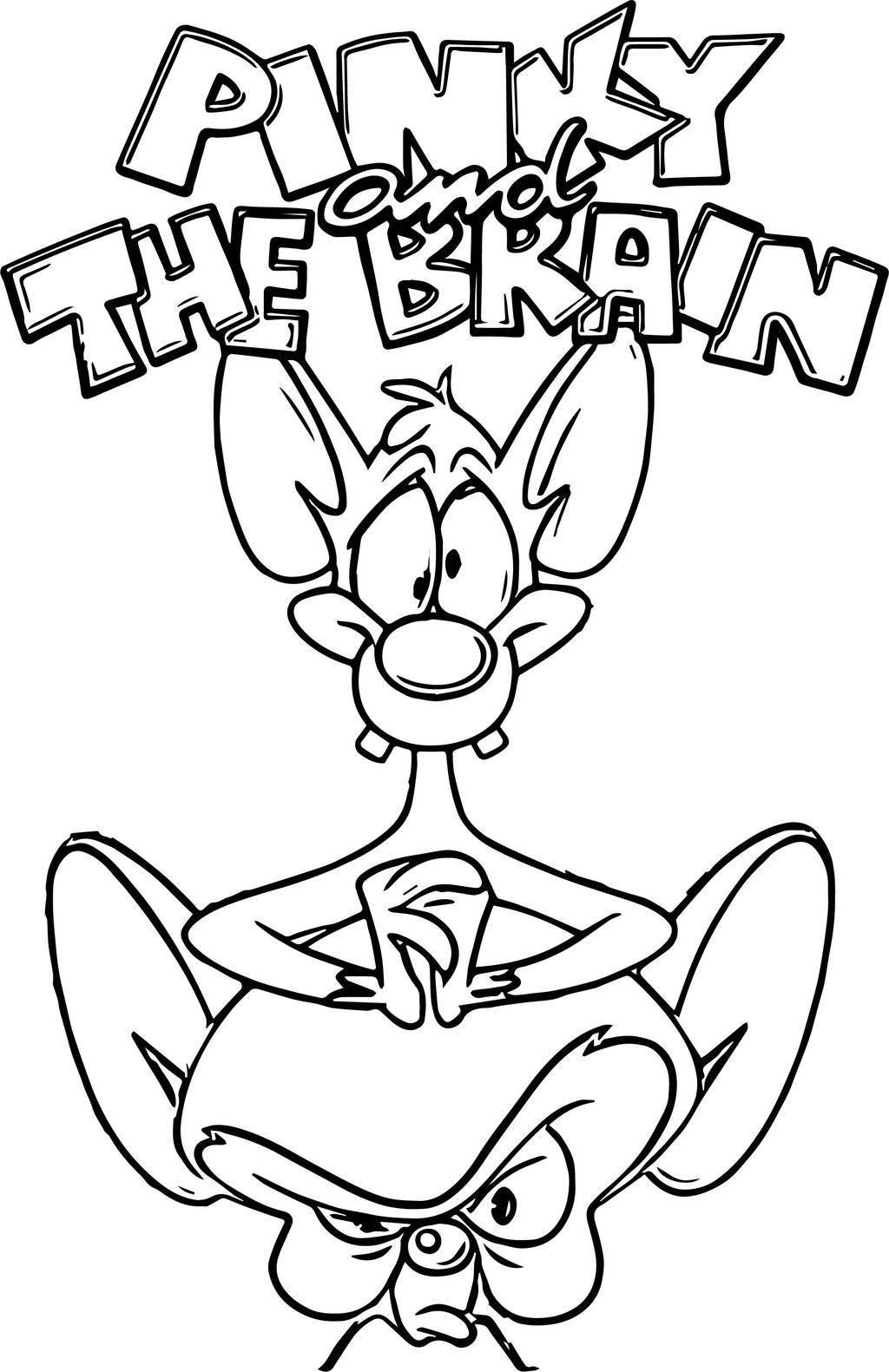Pinky And The Brain Coloring Pages