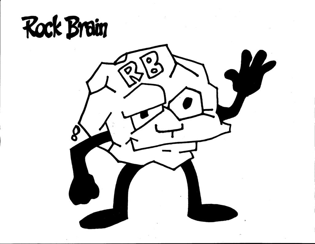Brain Coloring Pages Rock Team