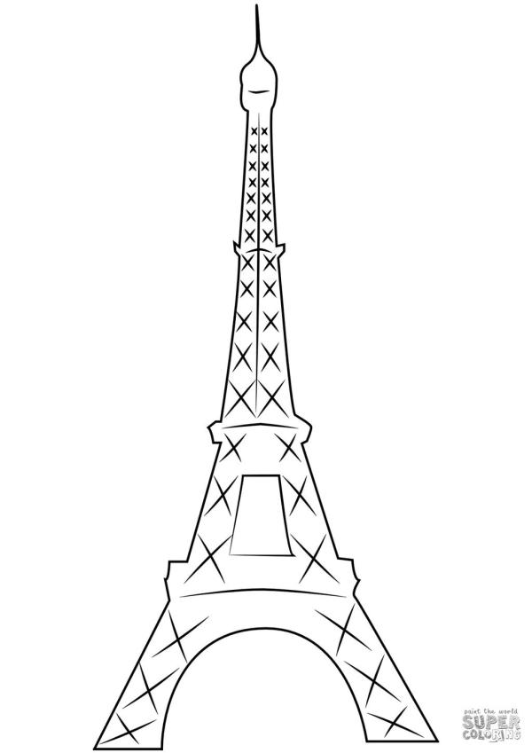 eiffel tower coloring pages # 37