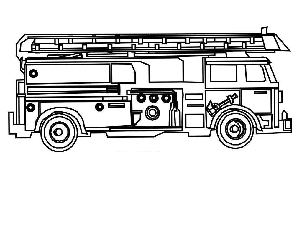 Fire Truck Coloring Pages Awesome Cozy Outline