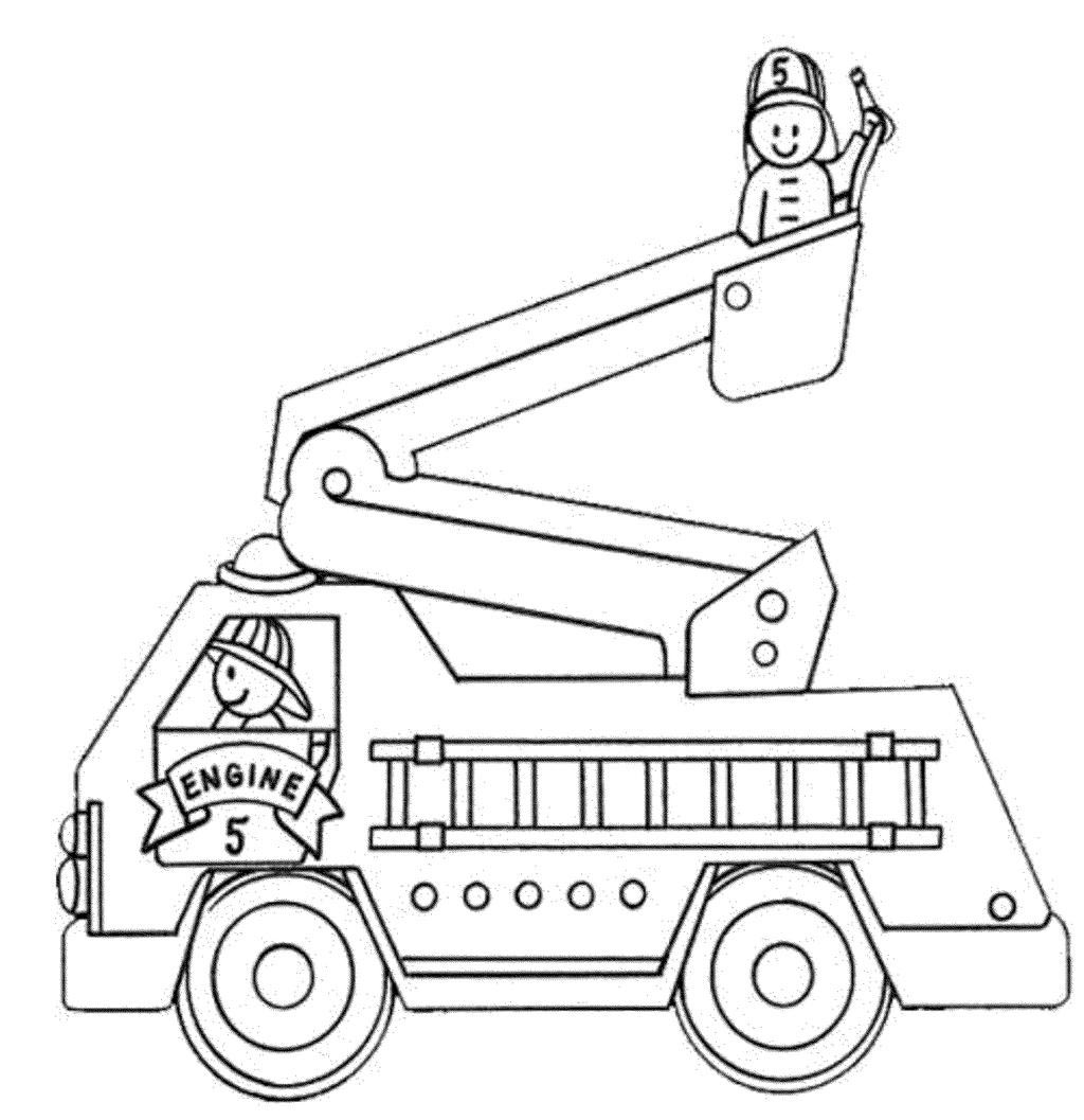 Fire Truck Coloring Pages Educational Giving For Adults