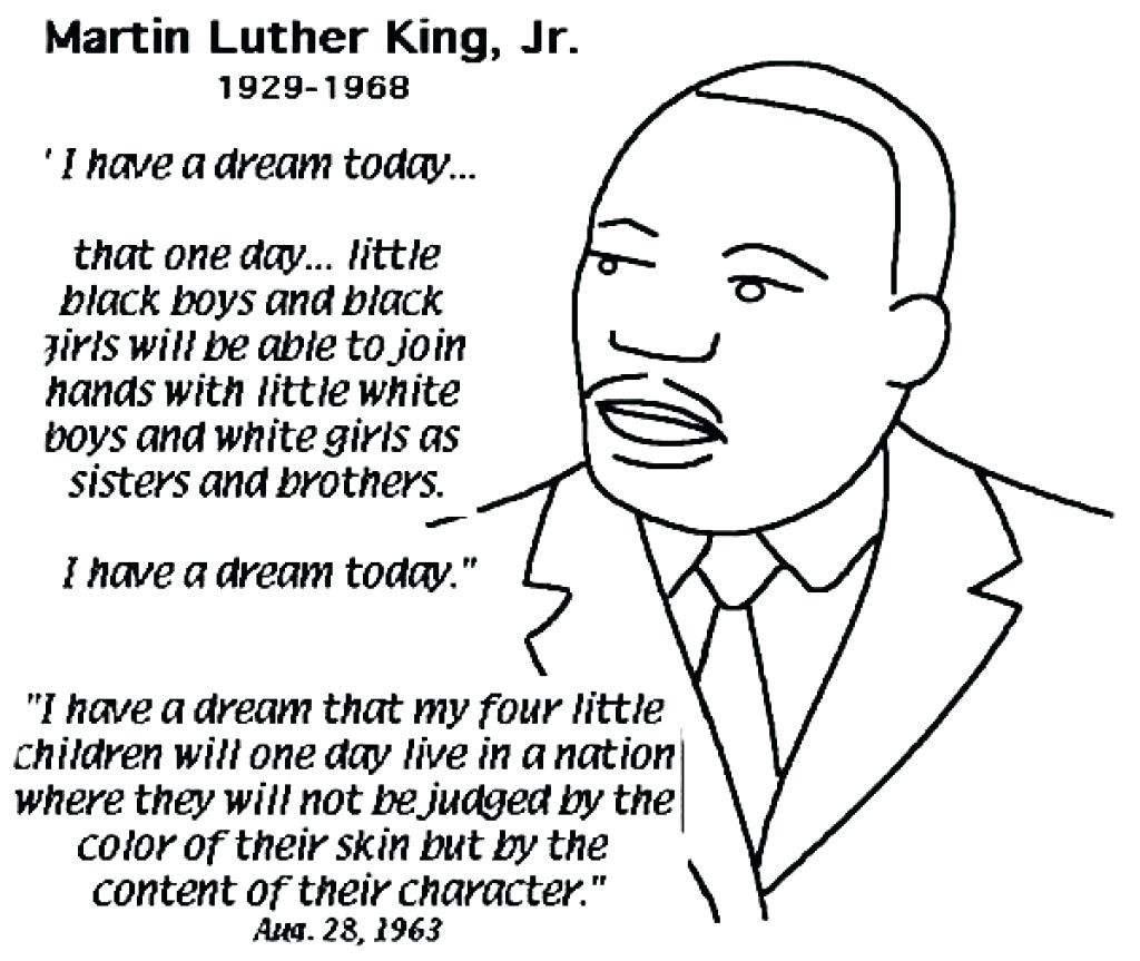 Kindergarten Worksheet Martin Luther King Jr Crafts