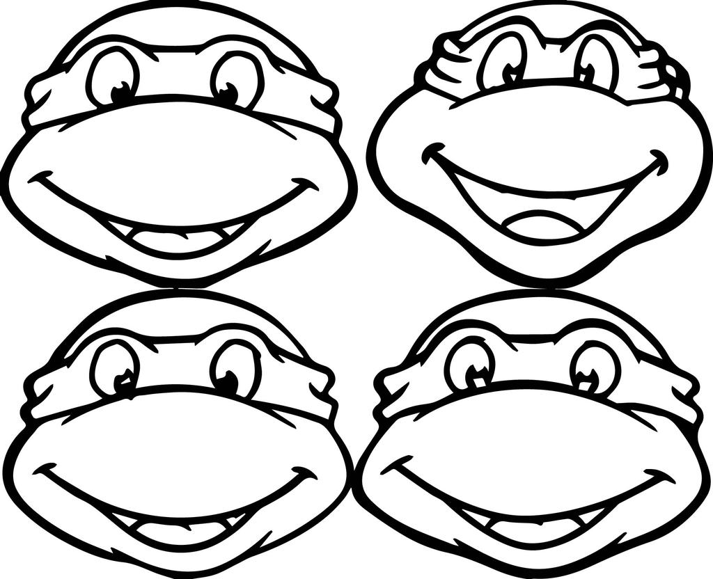 Ninja Turtles Coloring Pages Lineart
