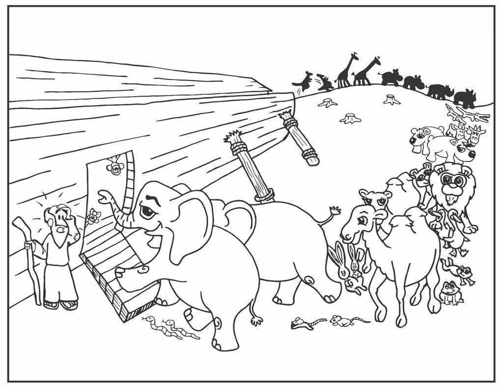 Just The Ark Noah S Ark Coloring Sheet