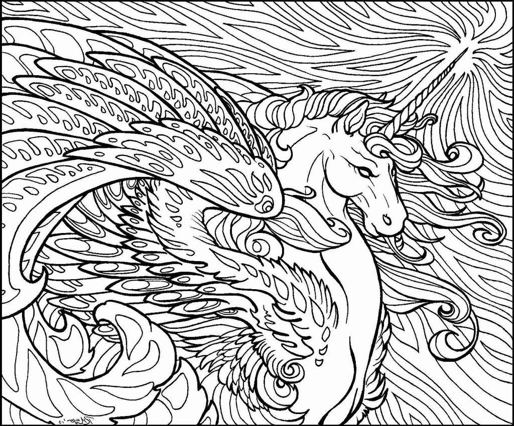 Unicorn Coloring Pages Preschool For Toddlers