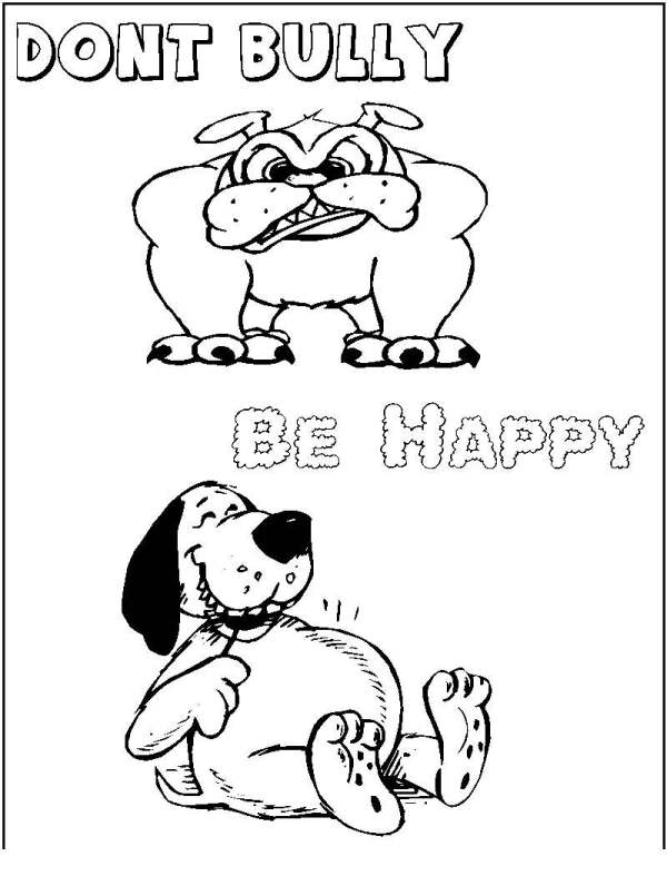 bullying coloring pages # 58