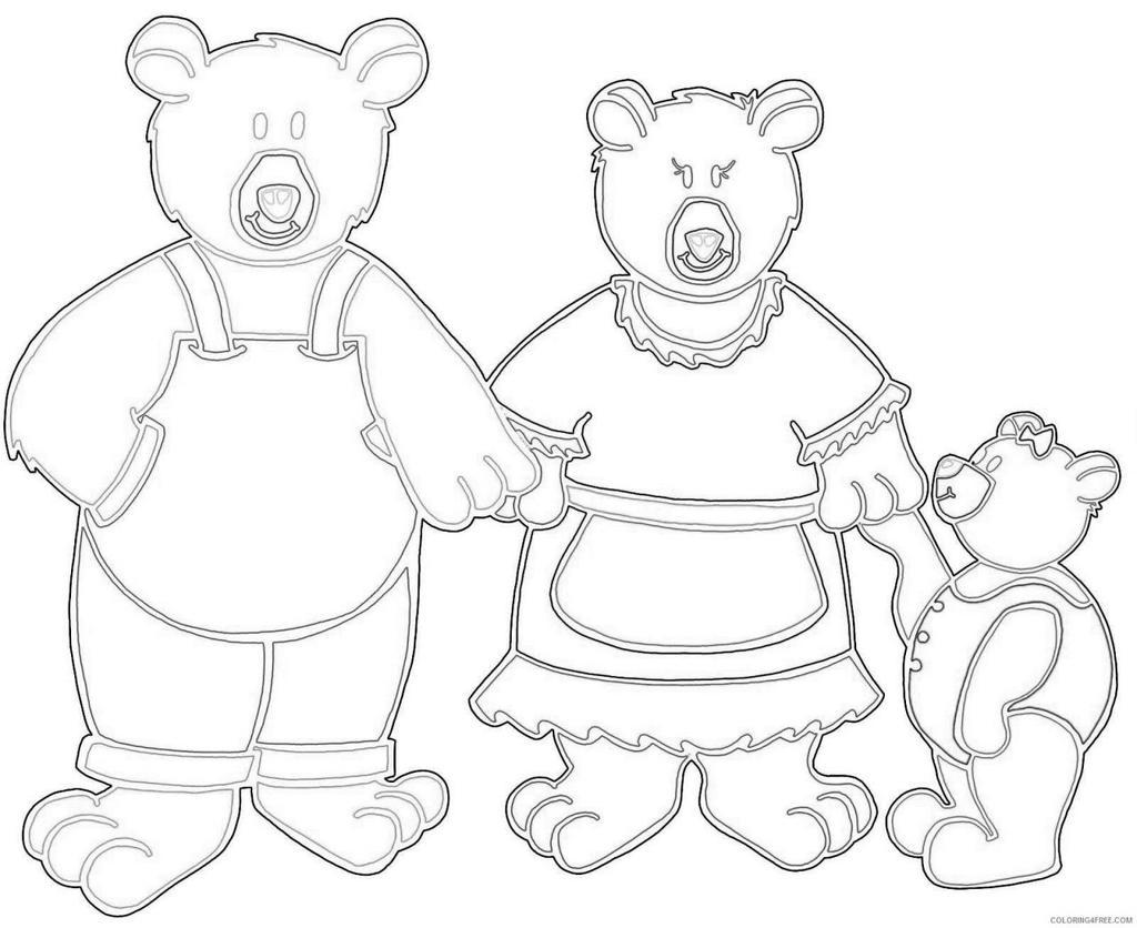 The Three Bears Coloring Pages