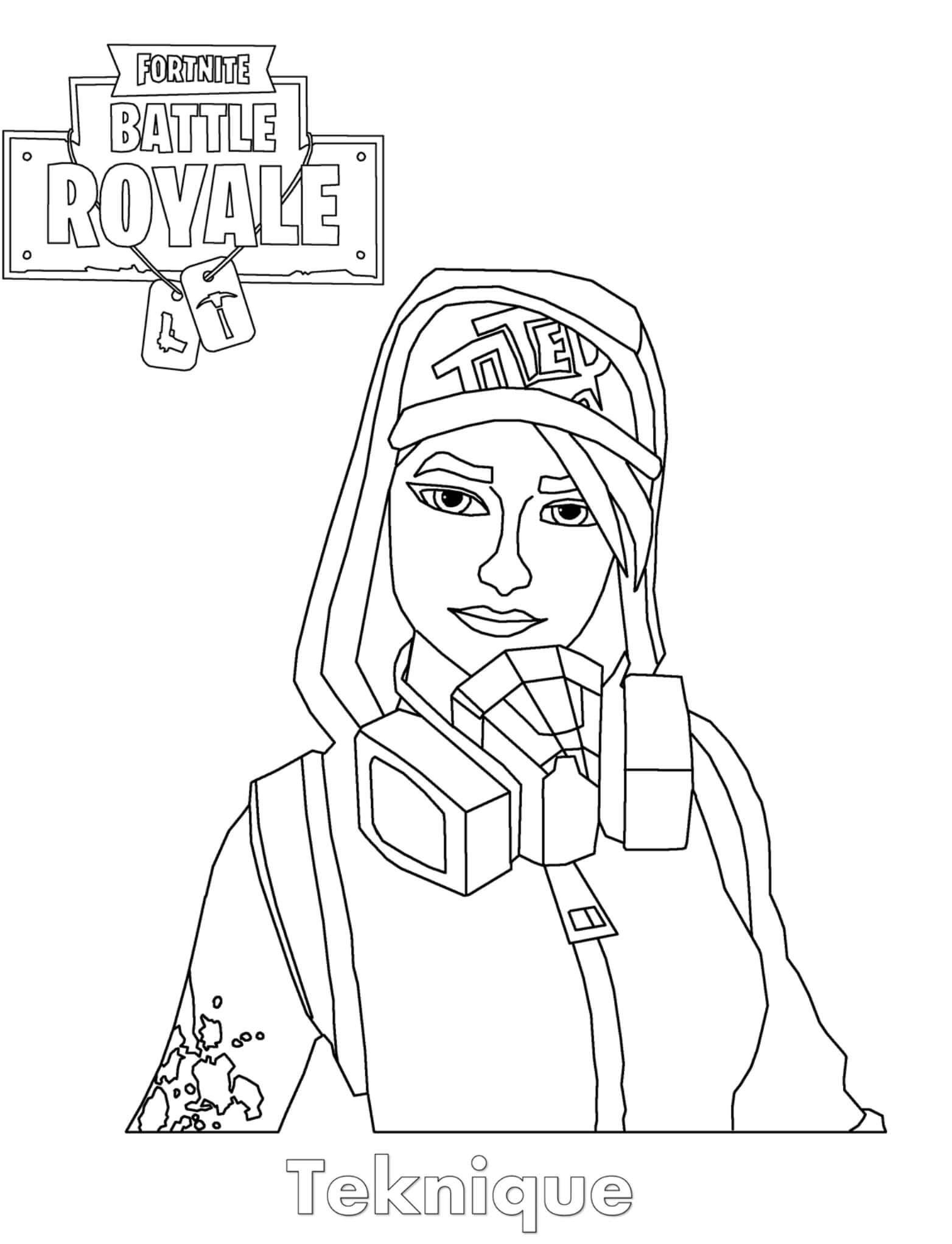 Fortnite Galaxy Skin Coloring Pages