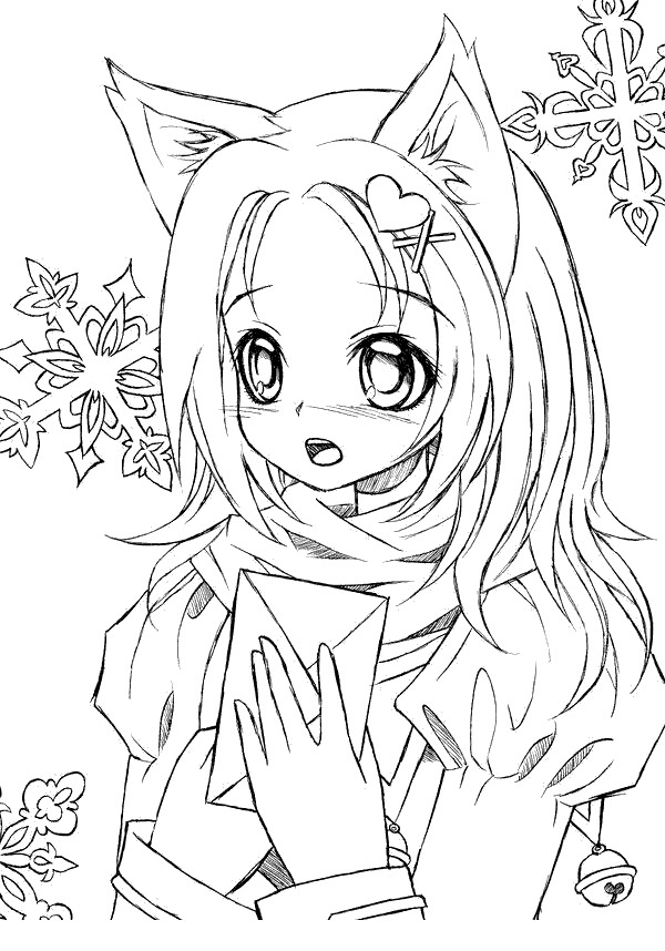 Chibi Kawaii Girl Gacha Life Coloring Pages
