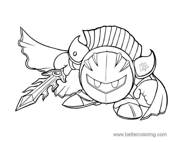 knight coloring page # 20