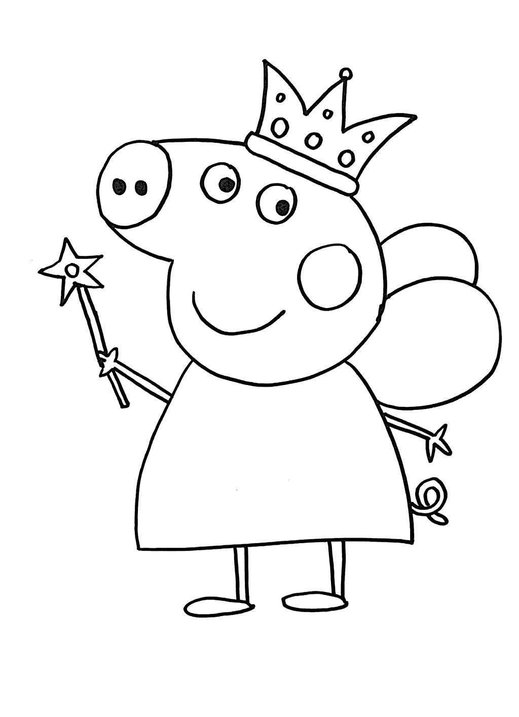 Peppa Pig Coloring Pages Worksheet