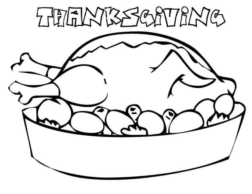 turkey for thanksgiving food coloring pages  free