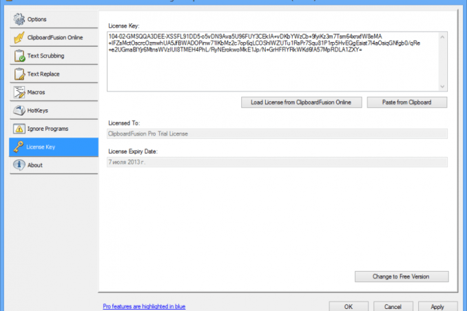 ClipboardFusion Pro crack serial key