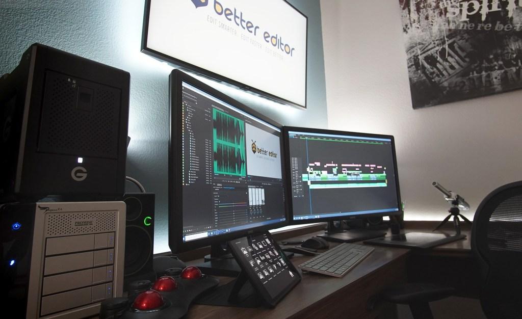 Pro Video Editing Desk Setup