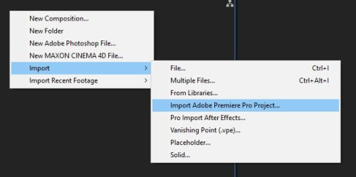 Premiere Pro to After Effects