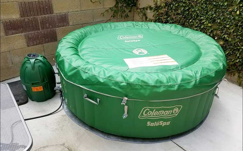 coleman inflatable outdoor hot tub