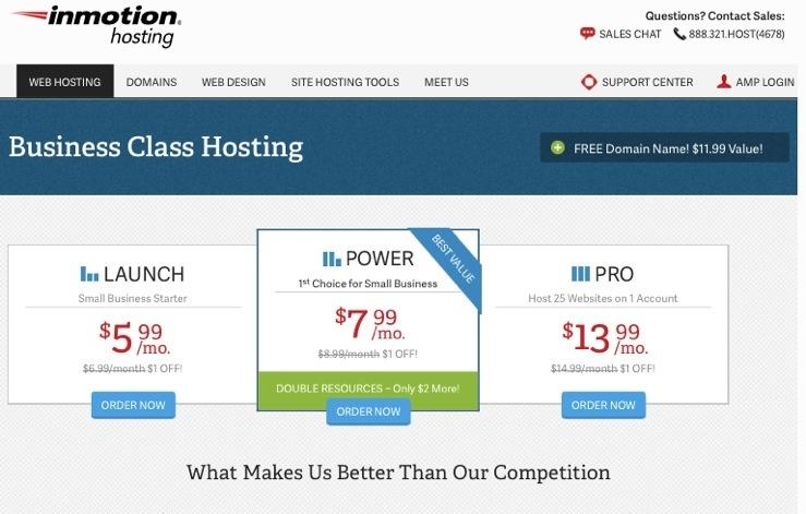 Best eCommerce Web Hosting Plans - InMotion Business Power Hosting Plan