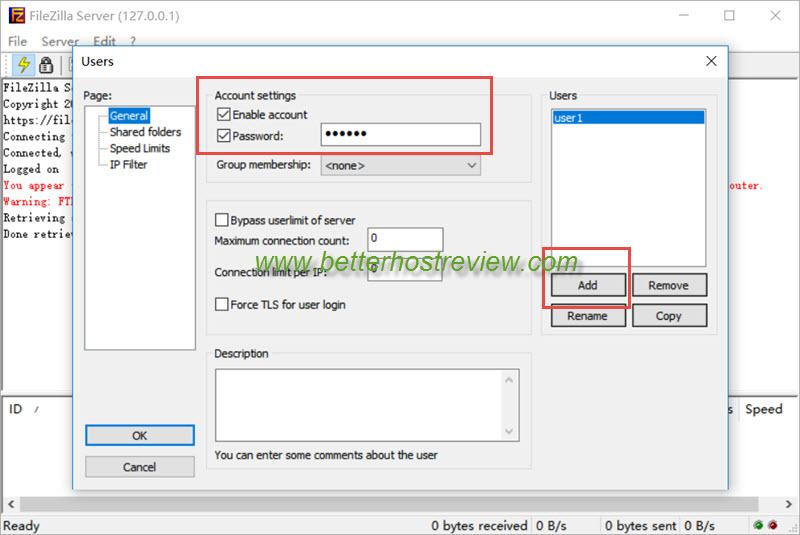 Setup FileZilla FTP Server on Windows computer – Better Host Review
