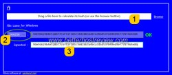 verify file checksum hash on windows PC
