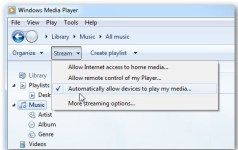 windows media player stream setting to allow other devices play media