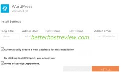 install wordpress automatically using quickinstall hostgator
