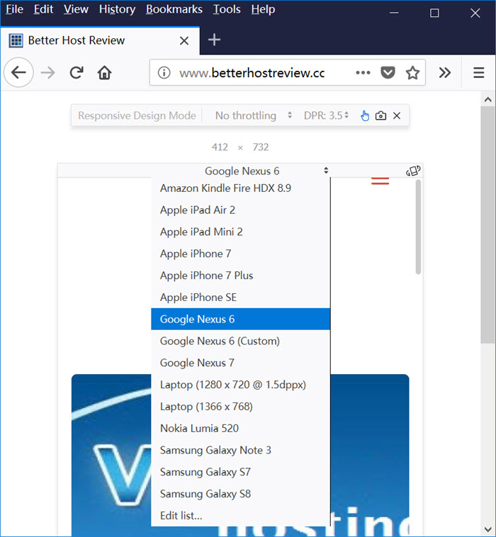 Enable Firefox mobile view from desktop – Better Host Review