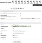 backup wordpress sites via softaculous