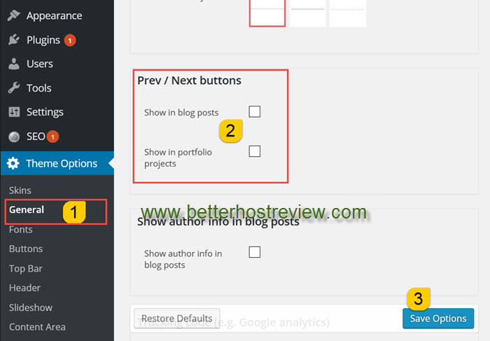Remove previous and next posts in The7 WordPress theme – Better Host ...