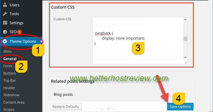 Hide pingbacks in The7 WordPress theme – Better Host Review