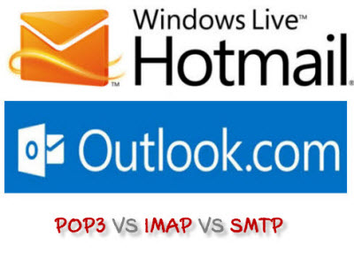 hotmail outlook pop imap smtp configuration