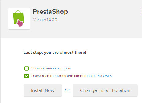 install prestashop automatically