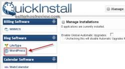 install wordpress using quickinstall
