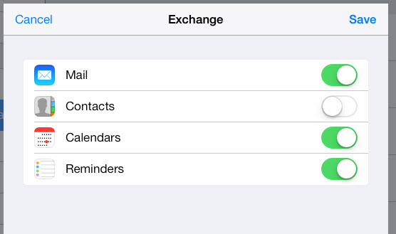 sync hotmail email, contacts, calendars, notes to ipad via exchange