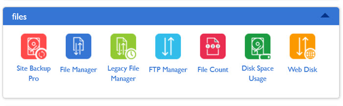 website storage space usage in cpanel