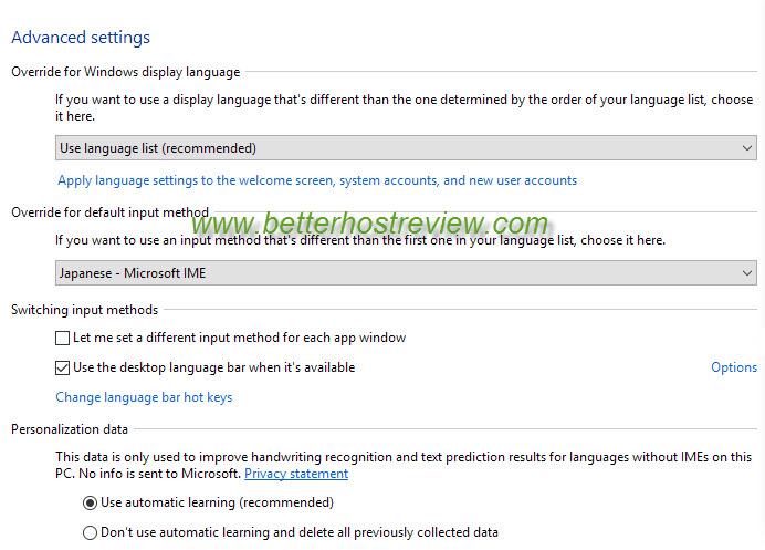windows 10 how to change input language