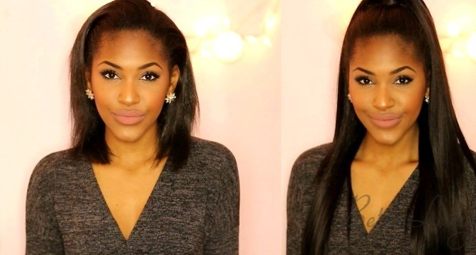 HOW TO HALF UP & HALF DOWN HAIRSTYLE WITH CLIP INS